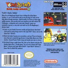 Back Cover | Super Mario Advance 3 Yoshi's Island GameBoy Advance