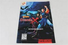 Castlevania Dracula X - Manual   Castlevania Dracula X Super Nintendo