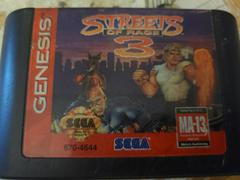 Cartridge (Front) | Streets of Rage 3 Sega Genesis
