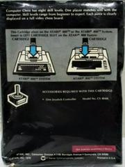 Back Of Box  | Computer Chess Atari 400