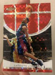 LeBron James [Red X Fractor] Basketball Cards 2005 Finest Prices