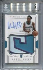 Malik Monk [Patch Autograph] Basketball Cards 2017 Panini National Treasures Prices