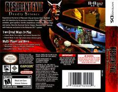 Back Cover | Resident Evil Deadly Silence Nintendo DS