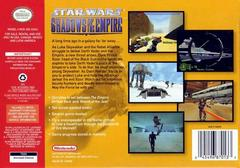 Back Cover | Star Wars Shadows of the Empire Nintendo 64