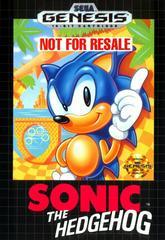 Front Cover | Sonic the Hedgehog [Not for Resale] Sega Genesis