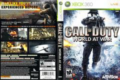 Slip Cover Scan By Canadian Brick Cafe | Call of Duty World at War Xbox 360