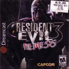 Front Cover   Resident Evil 3 Nemesis Sega Dreamcast