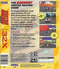 Virtua Racing Deluxe - Back | Virtua Racing Deluxe Sega 32X
