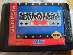 Cartridge - Front (Sticker Residue)   Greatest Heavyweights Sega Genesis