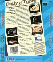 Dracula Unleashed - Back | Dracula Unleashed Sega CD