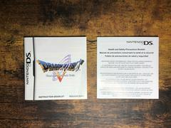 Manual & Insert(S) | Dragon Quest V Hand of the Heavenly Bride Nintendo DS