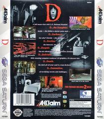 Back Of Case | D Sega Saturn