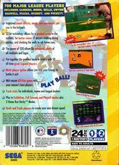 World Series Baseball - Back | World Series Baseball Sega 32X