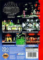 Back Cover | Batman Forever Sega Genesis