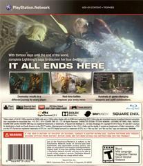 Back Cover | Lightning Returns: Final Fantasy XIII Playstation 3