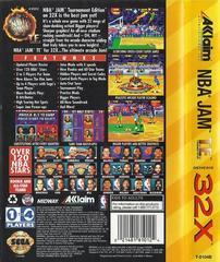 NBA Jam Tournament Edition - Back | NBA Jam Tournament Edition Sega 32X