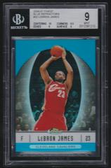 LeBron James [Blue Refractor] Basketball Cards 2006 Finest Prices