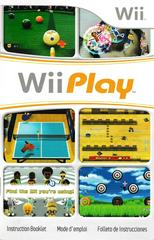 Manual - Front | Wii Play Wii