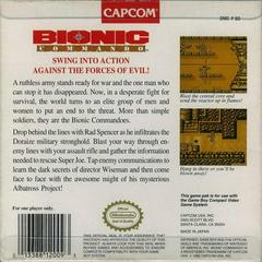 Bionic Commando - Back | Bionic Commando GameBoy