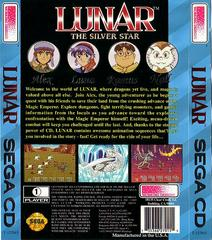 Lunar: The Silver Star - Back | Lunar The Silver Star Sega CD