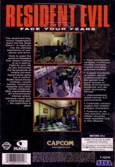 Back Cover   Resident Evil Sega Saturn