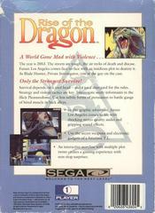 Rise Of The Dragon - Back | Rise of the Dragon Sega CD