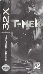 T-Mek - Manual | T-Mek Sega 32X