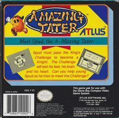 Amazing Tater - Back | Amazing Tater GameBoy
