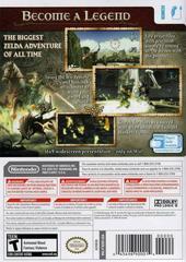 Back Cover | Zelda Twilight Princess Wii