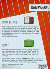 Reverse Of Box | 2 for 1 : Spatial Billiards & Casino Commodore 64
