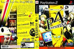 Artwork - Back, Front | Persona 4 Playstation 2