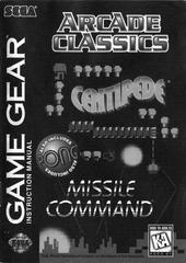Arcade Classics - Manual | Arcade Classics Sega Game Gear