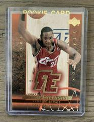 LeBron James [Jersey] Basketball Cards 2003 Upper Deck Rookie Exclusives Prices