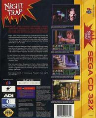 Night Trap - Back | Night Trap Sega 32X