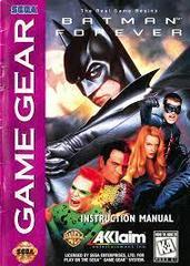Batman Forever - Manual | Batman Forever Sega Game Gear