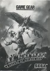 Ax Battler A Legend Of Golden Axe - Manual | Ax Battler a Legend of Golden Axe Sega Game Gear