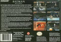 Batman Returns - Back | Batman Returns Super Nintendo