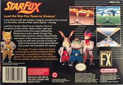 Box Back | Star Fox Super Nintendo