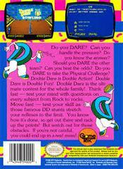Double Dare - Back | Double Dare NES