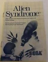 Alien Syndrome - Instructions | Alien Syndrome Sega Master System
