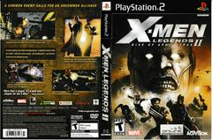 Artwork - Back, Front   X-men Legends 2 Playstation 2