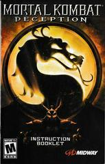 Manual - Front | Mortal Kombat Deception Playstation 2