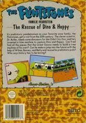 Flintstones The Rescue Of Dino And Hoppy - Back | Flintstones The Rescue of Dino and Hoppy NES