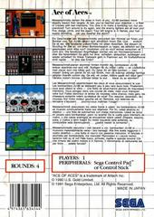 Back Cover  | Ace of Aces PAL Sega Master System