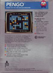 Pengo - Back | Pengo Atari 5200