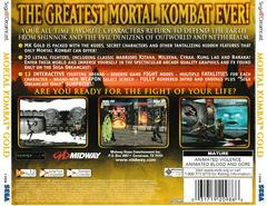 Back Of Case - Version 2 | Mortal Kombat Gold Sega Dreamcast