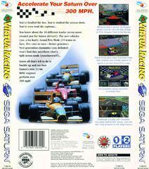 Back Of Case | Virtua Racing Sega Saturn