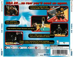 Back Of Case | NBA 2K Sega Dreamcast