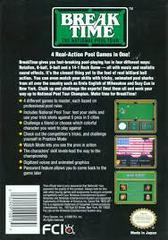 Break Time - Back | Break Time The National Pool Tour NES