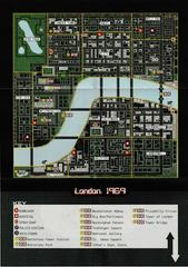 """2 Sided Map/Poster 11"""" X 8"""" - Back   Grand Theft Auto Mission Pack #1: London 1969 [Collector's Edition] Playstation"""